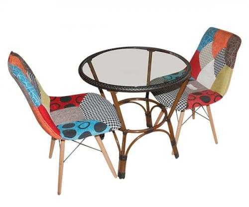 Garden Coffee Table - Two Chairs - (FL839-03)