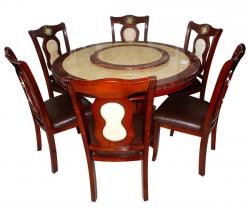 Marble Top 6 Seater Dinning Set - (FL217-01)