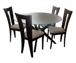 Wooden Dinning Set With Glass Top - 4 Seater - (FL206-24)