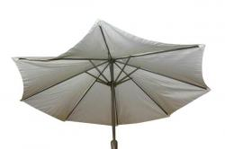 Round Wood Cafe Market Umbrella - (FL811-44)