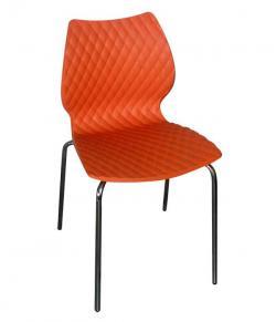 Dark Orange Plastic Chair - (FL116-17)