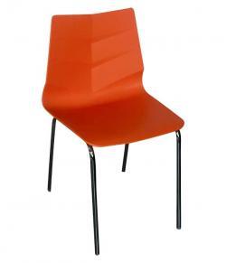 Dark Orange Plastic Chair - (FL116-16)