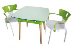 Green & White Table & Chair Set - (FL811-30)
