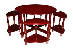 Dark Brown Center Table - Wooden Table - (FL209-23)