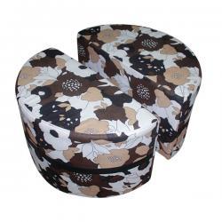 Dark Brown Cloth Sofa - (FL315-11)
