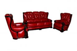 Dark Red 5 Seater Sofa - (FL311-04)