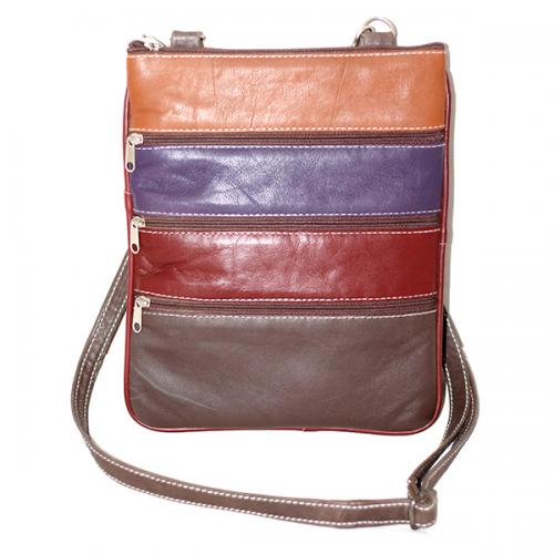 5 Zipper Multicolor Soulder Bag