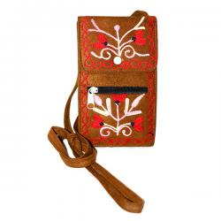 Brown Passport Sidebag wit Zip Lock
