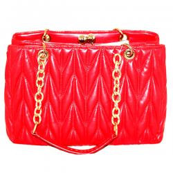 Red Fashionable Crossbody Handbag