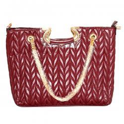 Maroon Fashionable Crossbody Handbag