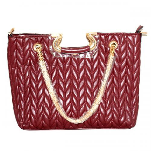 Maroon Fashionable Crossbody Handbag
