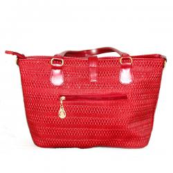 Red Fashionable Large Handbag With Foldable Lock