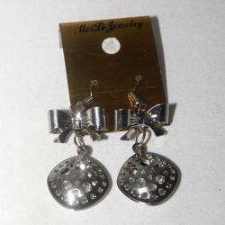Fashion Jewellery - Short Silver Ear Ring
