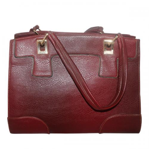 Dark Maroon Fancy Hand Bag For Ladies
