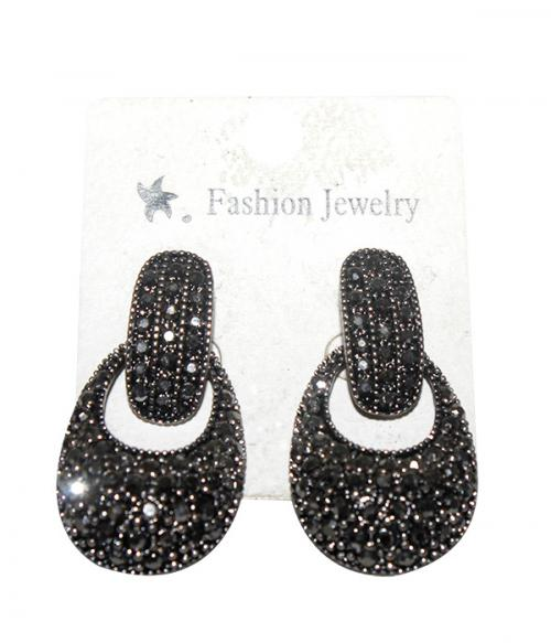 Fashion Jewellery - Short Silver Ear Ring