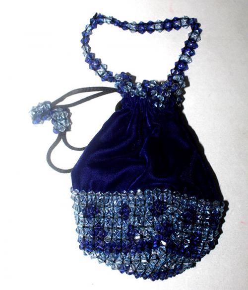 Dark Blue Small Handbag For Ladies