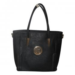Dark Black Fancy Handbag For Ladies