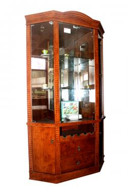 Wooden Wine Cabinet With Glass In Upper Part - (FL535-32)