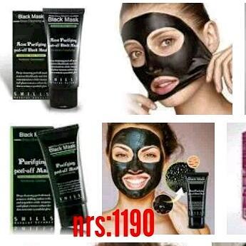Black peel off mask