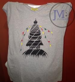 Stupa Design T Shirt