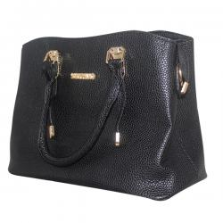Dark Black Ssynvo Fancy Hand Bag For Ladies - JRB-0017