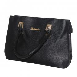 Dark Black Fashionable Handbag For Ladies - JRB-0022