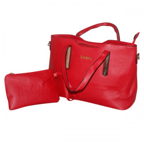 Dark Red 2 in 1 Handbag Set - Fancy Bag & Purse - JRB-0026