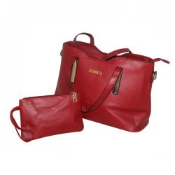 Dark Maroon 2 in 1 Handbag Set - Fancy Bag & Purse - JRB-0029
