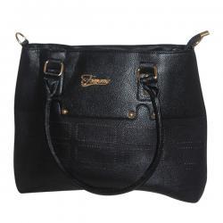 Dark Black Fxwang Casual Handbag For Ladies - JRB-0030
