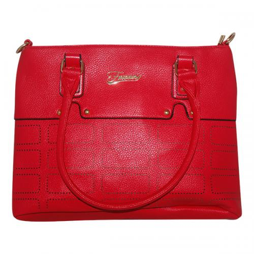 Dark Red Fxwang Casual Handbag For Ladies - JRB-0031