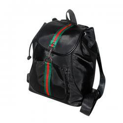 Dark Black Korean Style Women Backpack - Shoulder Bag - JRB-0036