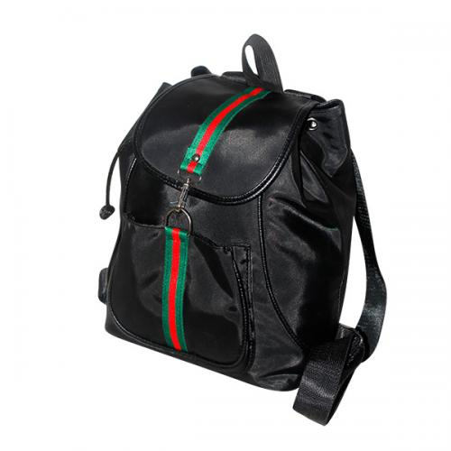 Dark Black Korean Style Women Backpack - Shoulder Bag - JRB-0036