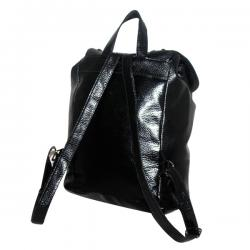 Dark Shiny Black Korean Style Women Shoulder Bag - JRB-0037