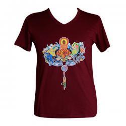 MIx Buddha Printed V Necked T-Shirt - (PL-002)