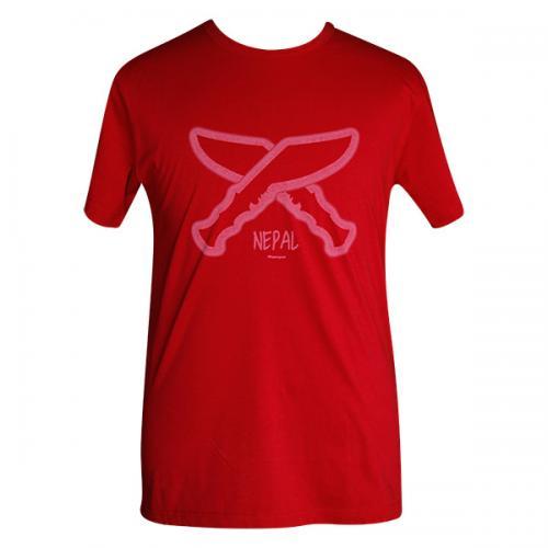 Crossed Khukuri Printed T-Shirt - (PL-008)