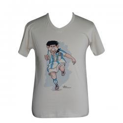 Lionel Messi Print - V Necked T-Shirt- (PL-009)