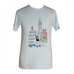 Dharahara Nepal Print - Round Necked T-Shirt - (PL-014)
