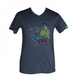 Yeti Chhoto Yeti Mitho Print - V Necked T-Shirt - (PL-015)