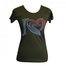 I Love Nepal Print - Round Necked T-Shirt - (PL-022)
