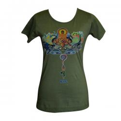 MIx Buddha Printed Round Necked T-Shirt - (PL-027)
