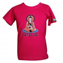 Born In Nepal Buddha- Round Necked T-Shirt - (PL-029)