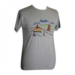 Nepal Printed Round Necked T-Shirt - (PL-036)