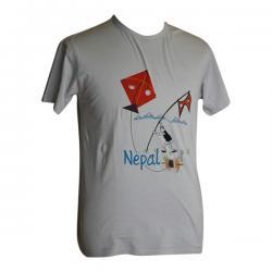 Nepali Flag & Kite Printed Round Necked T-Shirt - (PL-037)