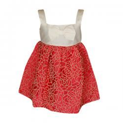 Red & Silver Colored Frock For Girls - (PL-051) - 20% OFF