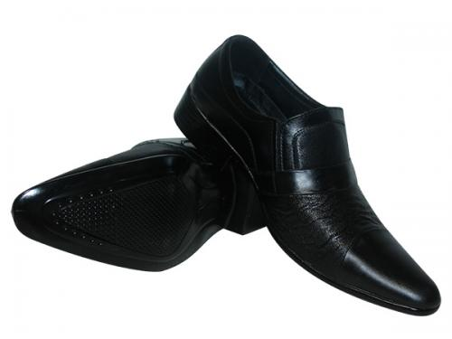 Dark Black Office Wear Shoes For Men - (SS-5015)