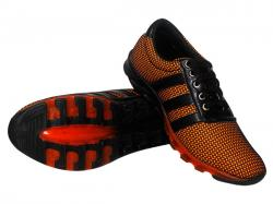 Orange & Black Colored Net Style Sports Shoes - (SS-2098)