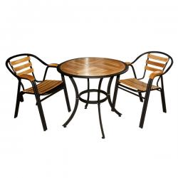 Two Seater Round Wooden Coffee Table - FL820-33
