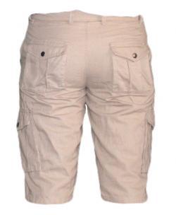 Mens' Box Half Pants / Shorts - Cream