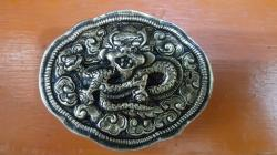 hand made copper belt buckle