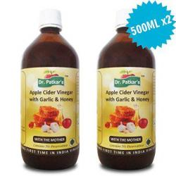 Dr.Patkar's Apple Cider Vinegar with Garlic & Honey (500 ML X 2 Nos)
